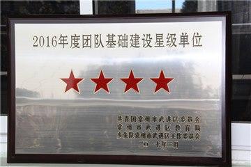 2016年度团队基础建设星级单位