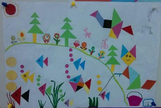二年级学生七巧板拼画优秀作品展- 研究成果- 常州市图片