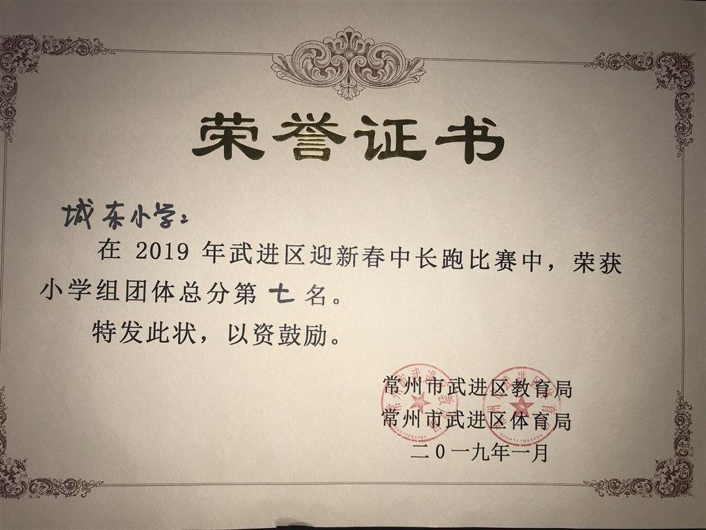 中長跑團體總分第七名.JPG
