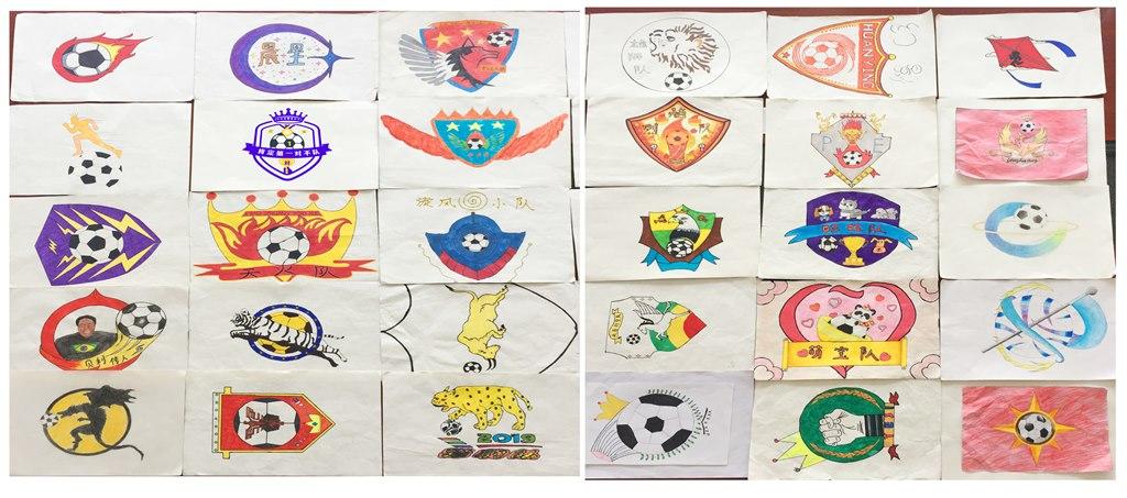 雕庄小学:足球队旗设计 激情创意无限